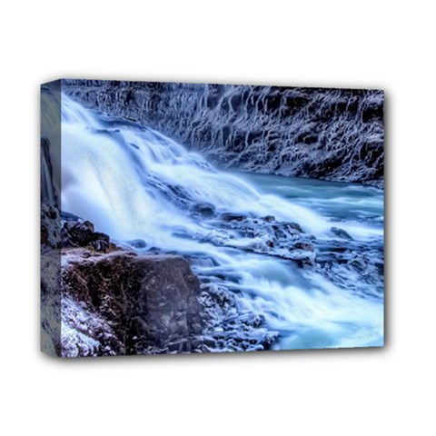 GULLFOSS WATERFALLS 1 Deluxe Canvas 14  x 11