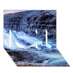 GULLFOSS WATERFALLS 1 I Love You 3D Greeting Card (7x5)
