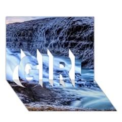 GULLFOSS WATERFALLS 1 GIRL 3D Greeting Card (7x5)