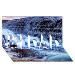 Gullfoss Waterfalls 1 #1 Dad 3d Greeting Card (8x4)