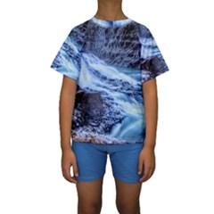 Gullfoss Waterfalls 1 Kid s Short Sleeve Swimwear