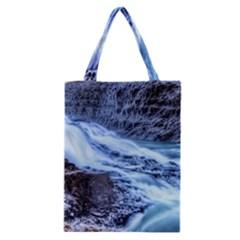 GULLFOSS WATERFALLS 1 Classic Tote Bags