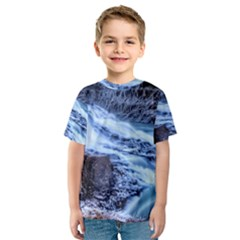 Gullfoss Waterfalls 1 Kid s Sport Mesh Tees