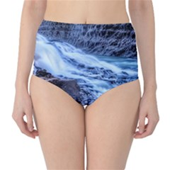 Gullfoss Waterfalls 1 High Waist Bikini Bottoms