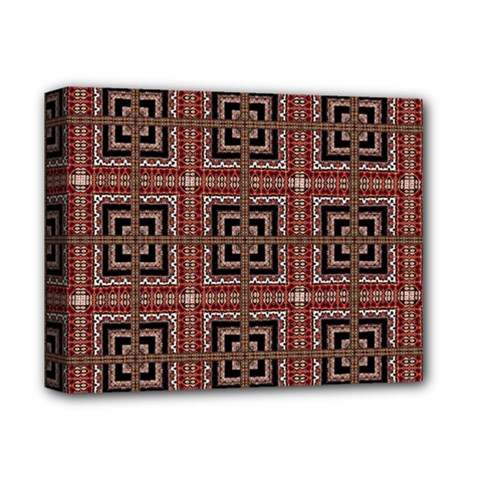 Check Ornate Pattern Deluxe Canvas 14  x 11