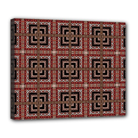 Check Ornate Pattern Deluxe Canvas 24  x 20