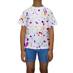 Abstract Print Kid s Short Sleeve Swimwear