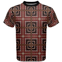 Check Ornate Pattern Men s Cotton Tees