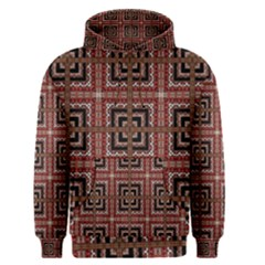 Check Ornate Pattern Men s Pullover Hoodies