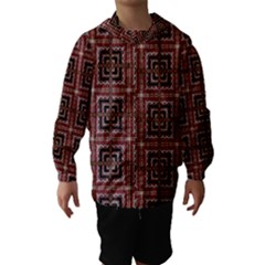 Check Ornate Pattern Hooded Wind Breaker (kids)