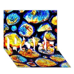 Woodpile Abstract HOPE 3D Greeting Card (7x5)