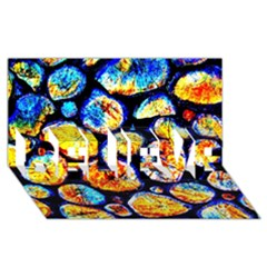 Woodpile Abstract Believe 3d Greeting Card (8x4)