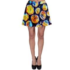 Woodpile Abstract Skater Skirts