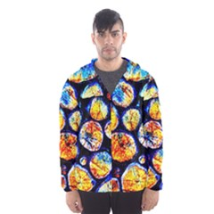 Woodpile Abstract Hooded Wind Breaker (men)