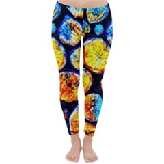 Woodpile Abstract Winter Leggings