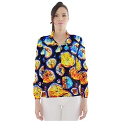 Woodpile Abstract Wind Breaker (women)