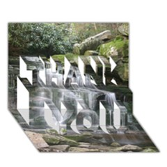 ELAKALA FALLS THANK YOU 3D Greeting Card (7x5)