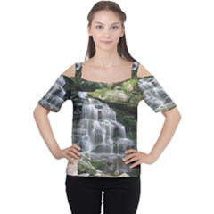 ELAKALA FALLS Women s Cutout Shoulder Tee