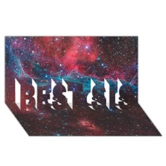 Vela Supernova Best Sis 3d Greeting Card (8x4)