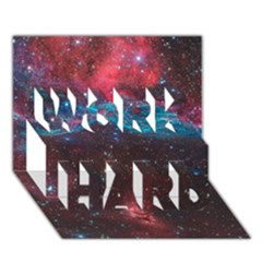 Vela Supernova Work Hard 3d Greeting Card (7x5)