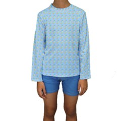 Birds Pattern Kid s Long Sleeve Swimwear