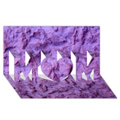 Purple Wall Background Mom 3d Greeting Card (8x4)