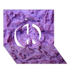 Purple Wall Background Peace Sign 3D Greeting Card (7x5)
