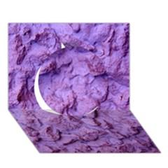 Purple Wall Background Circle 3d Greeting Card (7x5)