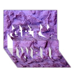 Purple Wall Background Get Well 3D Greeting Card (7x5)