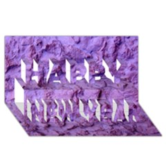 Purple Wall Background Happy New Year 3D Greeting Card (8x4)