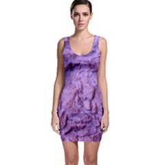 Purple Wall Background Bodycon Dresses