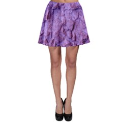 Purple Wall Background Skater Skirts