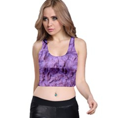 Purple Wall Background Racer Back Crop Tops