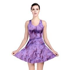 Purple Wall Background Reversible Skater Dresses