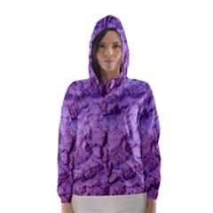 Purple Wall Background Hooded Wind Breaker (Women)