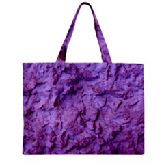 Purple Wall Background Zipper Tiny Tote Bags