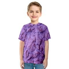 Purple Wall Background Kid s Sport Mesh Tees