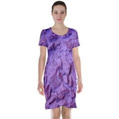 Purple Wall Background Short Sleeve Nightdresses