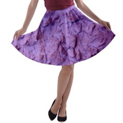 Purple Wall Background A-line Skater Skirt