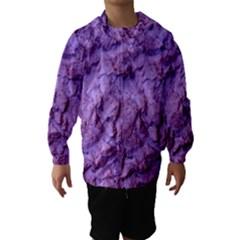 Purple Wall Background Hooded Wind Breaker (Kids)