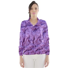 Purple Wall Background Wind Breaker (women)