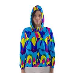 Colorful chaos Hooded Wind Breaker (Women)