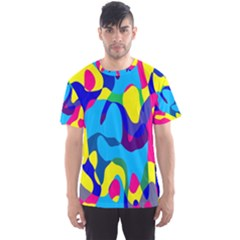 Colorful Chaos Men s Sport Mesh Tee