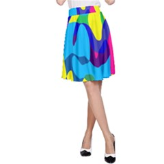 Colorful chaos A-line Skirt