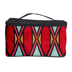Rhombus And Chevrons Pattern Cosmetic Storage Case