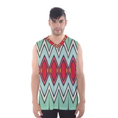Rhombus and chevrons pattern Men s Basketball Tank Top