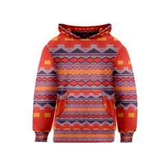 Rhombus rectangles and triangles Kid s Pullover Hoodie
