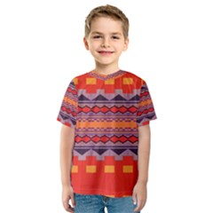 Rhombus rectangles and triangles Kid s Sport Mesh Tee