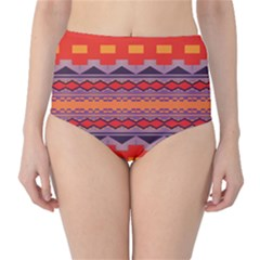 Rhombus rectangles and triangles High-Waist Bikini Bottoms