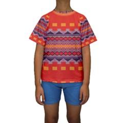 Rhombus Rectangles And Triangles  Kid s Short Sleeve Swimwear